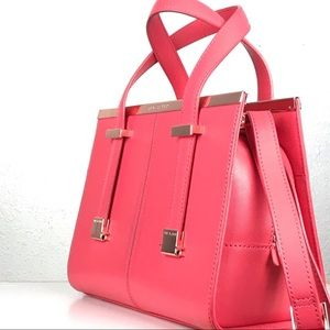 Ted Baker Leather  Minibet handbag in Hot Pink